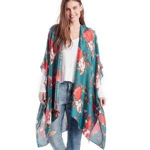 Sole Society Floral Kimono Style Top